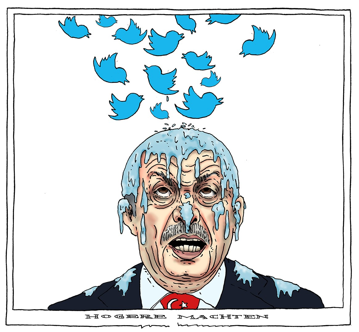 Cartoon Erdogan-Twitter