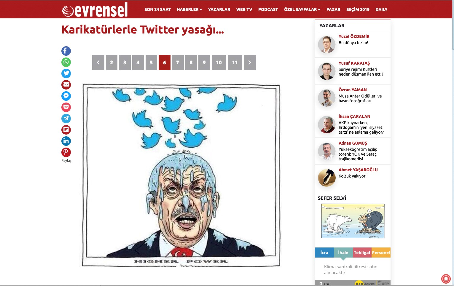 Cartoon Erdogan-Twitter II