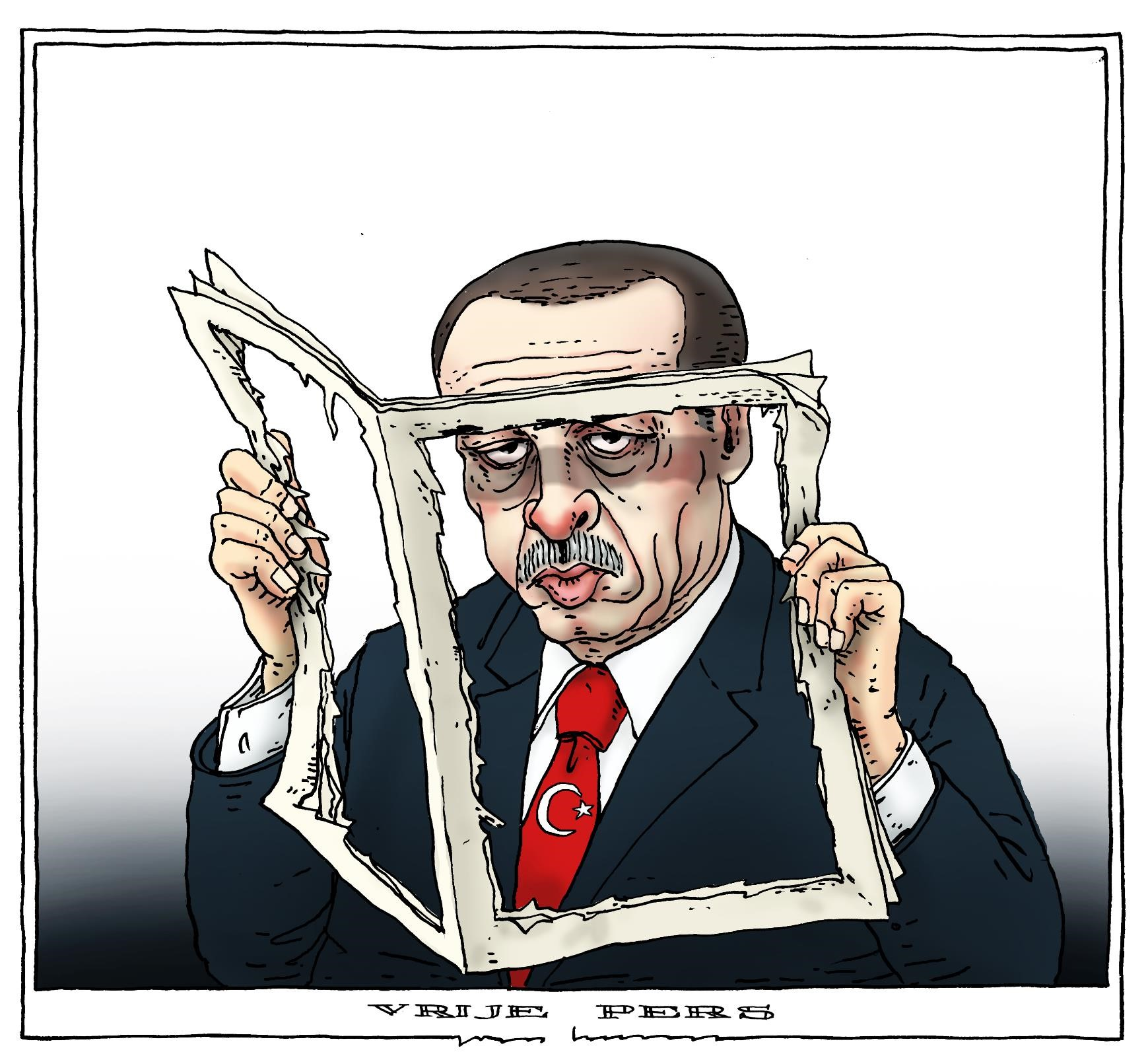 cartoon Erdogan-Vrije Pers